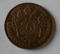 Uhry 6 Krejcar 1800 S František II.