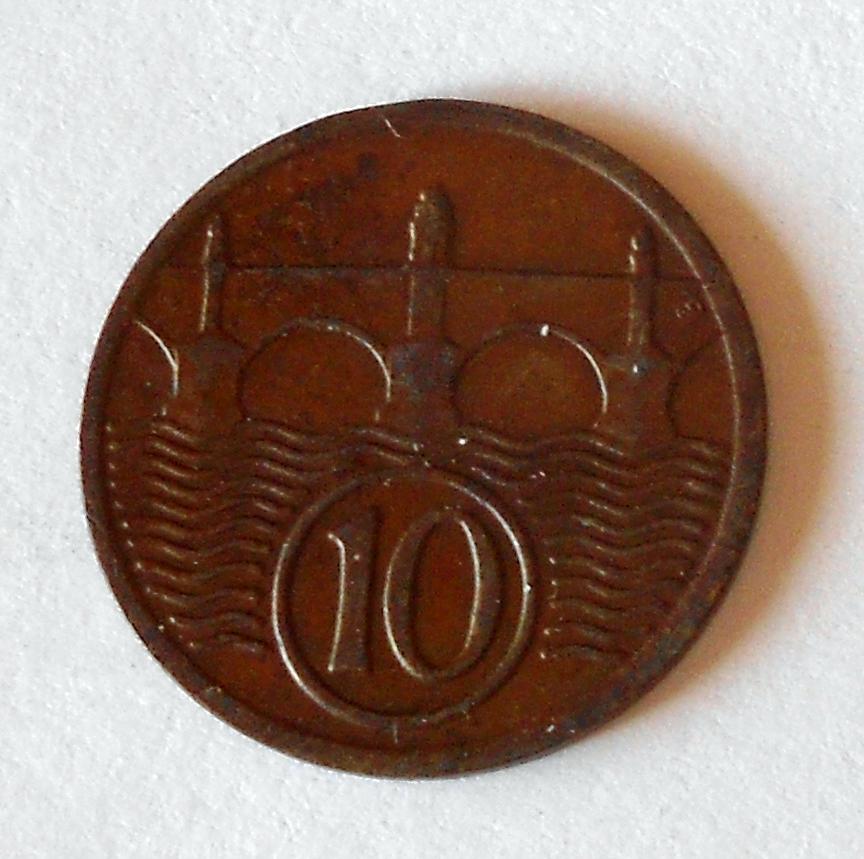 ČSR 10 Haléř 1936, pěkný