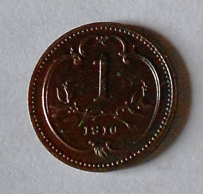 Rakousko 1 Haléř 1910, pěkný