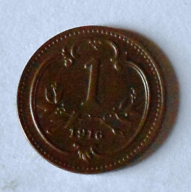 Rakousko 1 Haléř 1916, stav