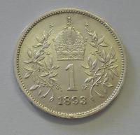 Rakousko 1 Koruna 1893, pěkný