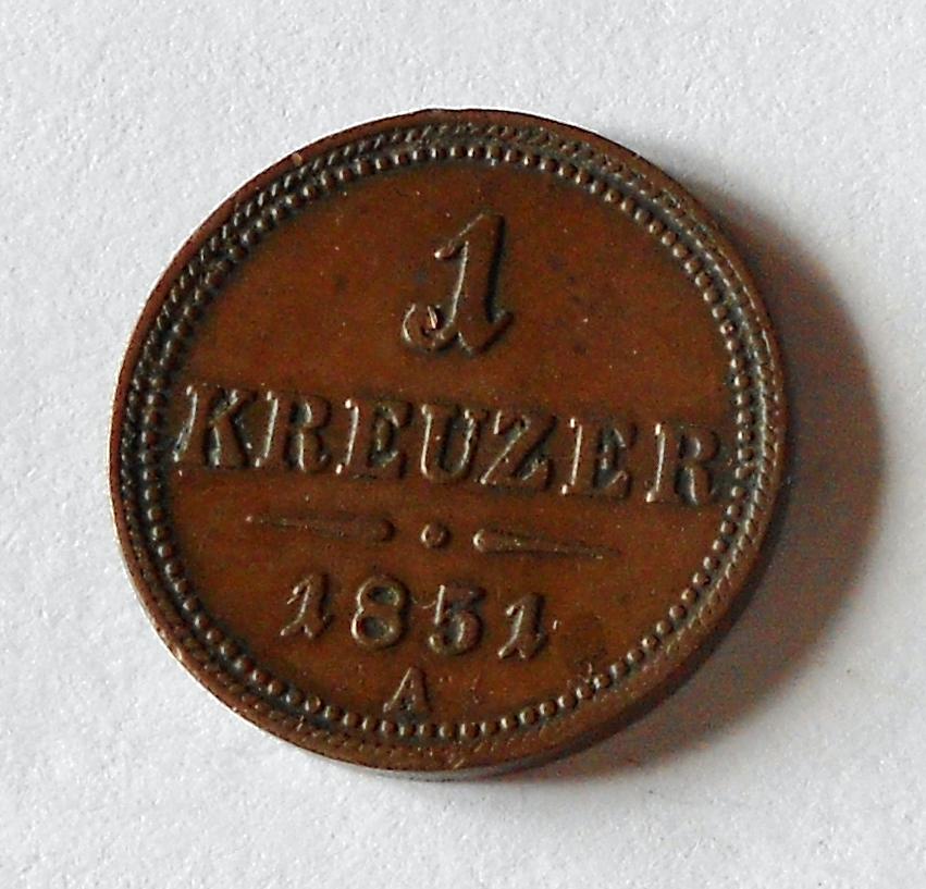 Rakousko 1 Krejcar 1851 A