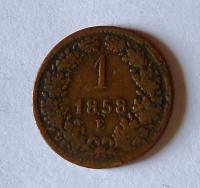 Rakousko 1 Krejcar 1858 E