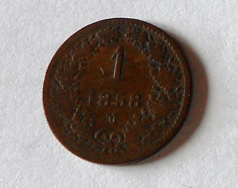 Rakousko 1 Krejcar 1858 M