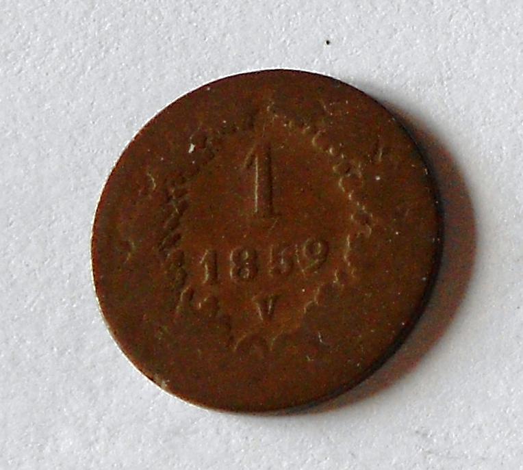 Rakousko 1 Krejcar 1858 V