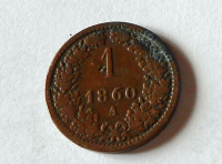 Rakousko 1 Krejcar 1860 A