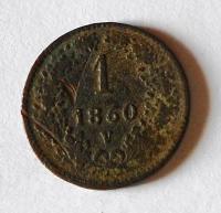 Rakousko 1 Krejcar 1860 V