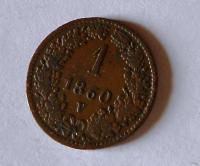 Rakousko 1 Krejcar 1860 V, pěkný