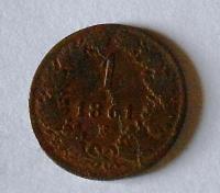 Rakousko 1 Krejcar 1861 E
