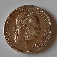 Rakousko 1 Zlatník/Gulden 1887, pěkný