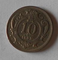 Rakousko 10 Haléř 1895