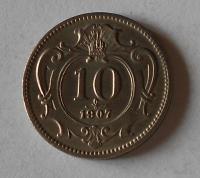 Rakousko 10 Haléř 1907, stav