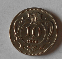 Rakousko 10 Haléř 1909, stav
