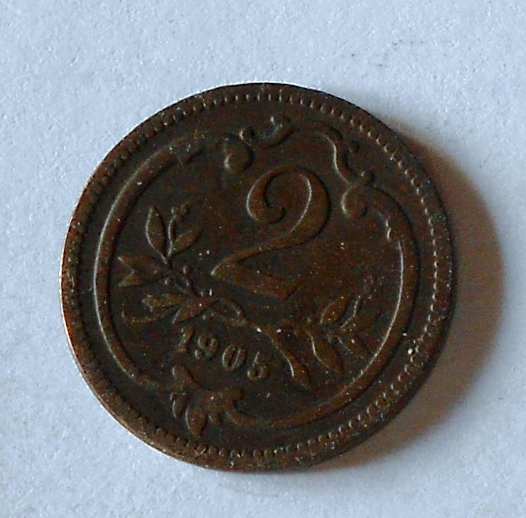 Rakousko 2 Haléř 1905