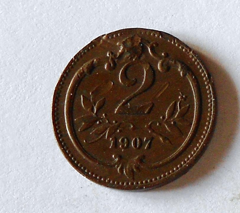 Rakousko 2 Haléř 1907