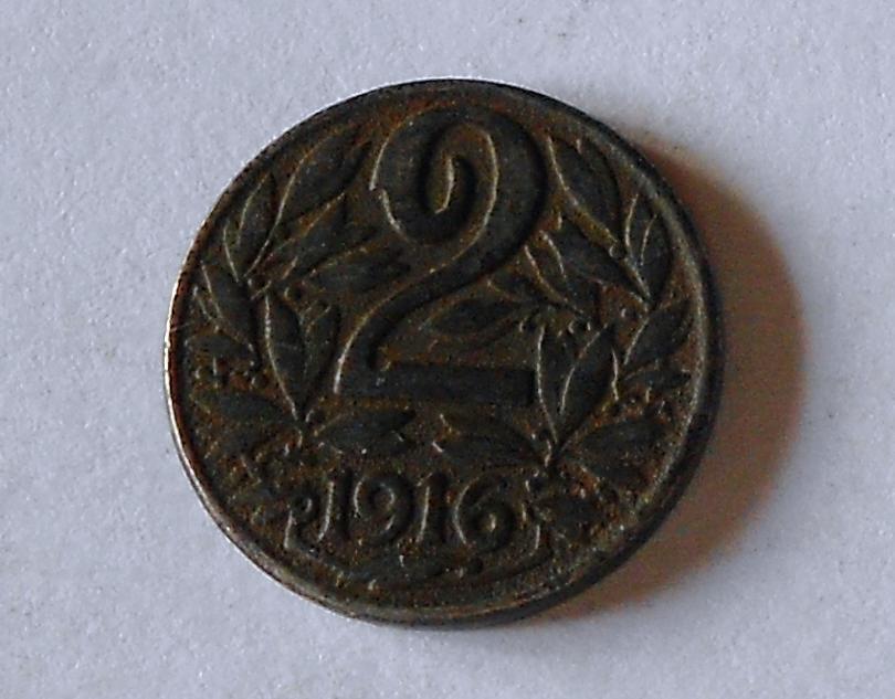 Rakousko 2 Haléř 1916