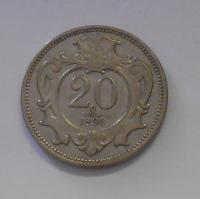 Rakousko 20 Haléř 1894