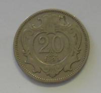 Rakousko 20 Haléř 1895