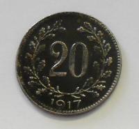 Rakousko 20 Haléř 1917