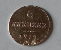 Rakousko 6 Krejcar 1849