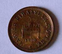 Uhry 1 Fillér 1900 KB