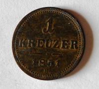 Uhry 1 Krejcar 1851 B