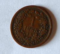Uhry 1 Krejcar 1868 KB