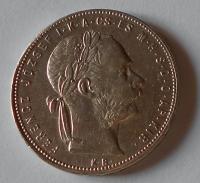 Uhry 1 Zlatník/Gulden 1880 KB, pěkný