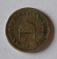 Uhry 10 Fillér 1892