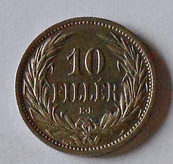 Uhry 10 Fillér 1909