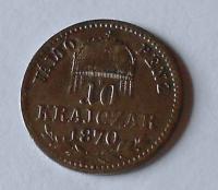 Uhry 10 Krejcar 1870 KB