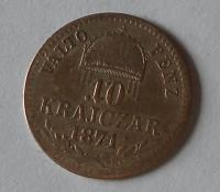 Uhry 10 Krejcar 1871 GYF
