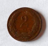 Uhry 2 Fillér 1894 KB