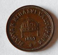 Uhry 2 Fillér 1897 KB