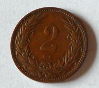 Uhry 2 Fillér 1907 KB