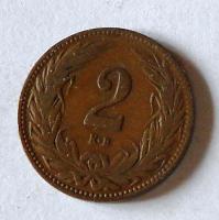 Uhry 2 Fillér 1908 KB