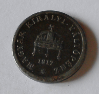 Uhry 2 Fillér 1917 KB