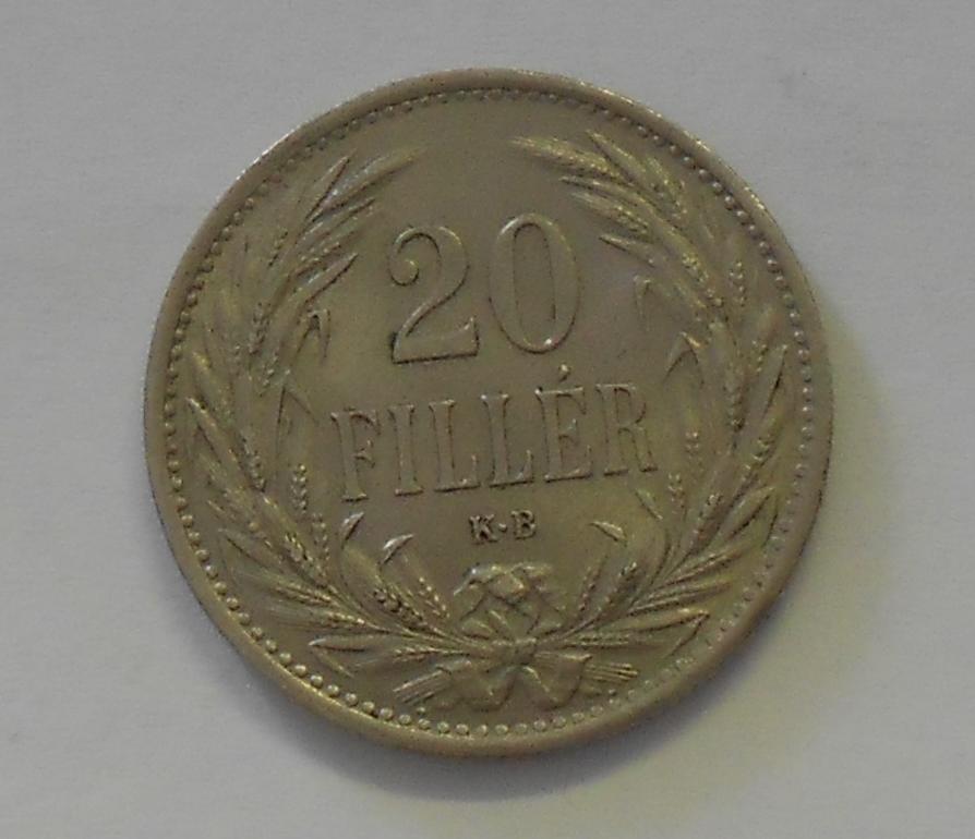 Uhry 20 Fillér 1914 KB, stav