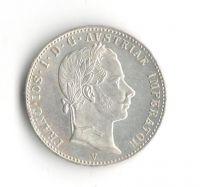 1/4 Zlatník/Gulden (1863-ražba V), stav 1+/1+ velmi pěkná