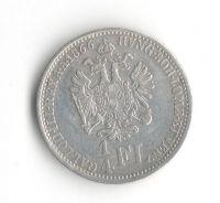 1/4 Zlatník/Gulden (1866-ražba V), stav 1+/1 dr.hr.