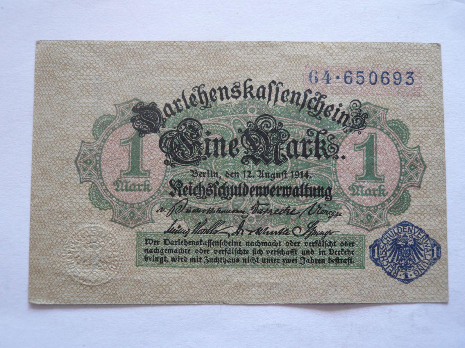 1 Marka, 1914, Německo