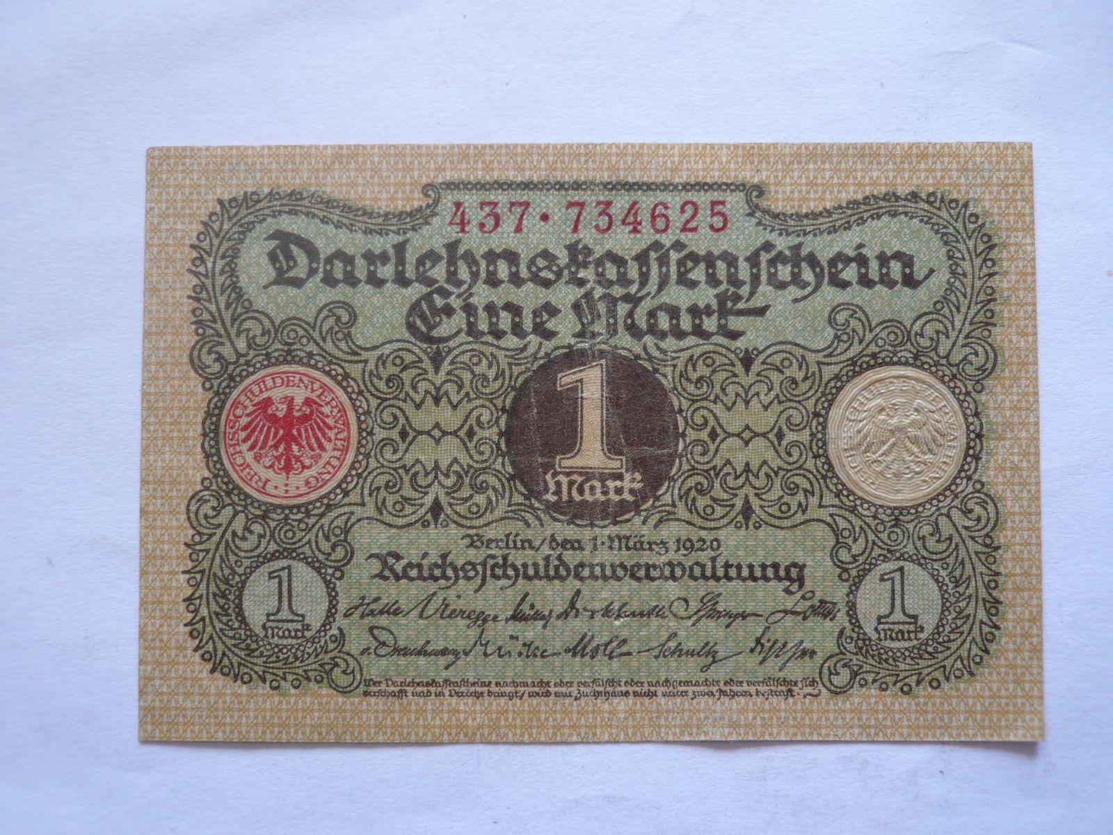 1 Marka, 1920, Německo