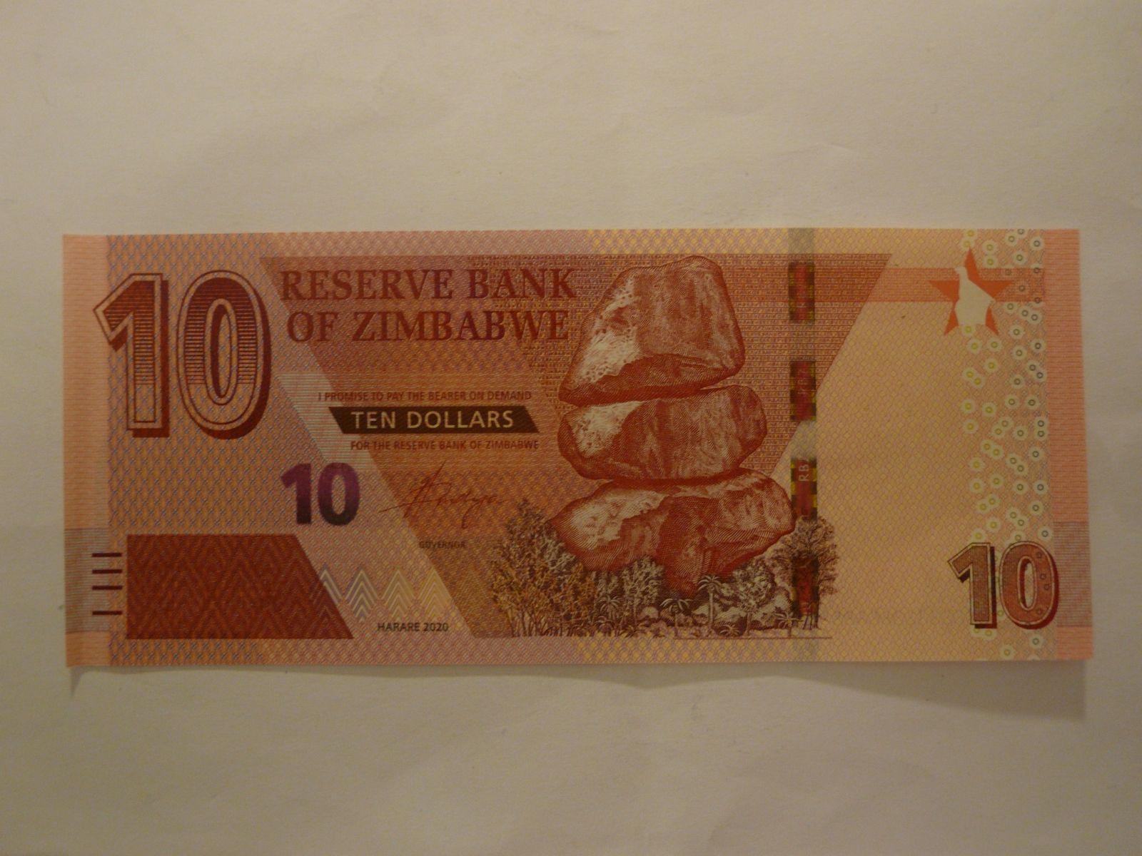 10 Dollar, 2020, Zimbabwe