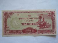 10 Rupie, Japonská okupace