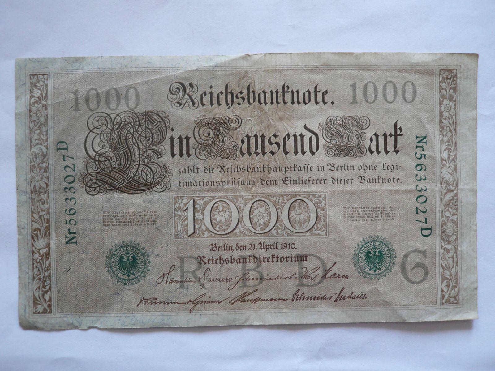 1000 Marek, 1910, Německo