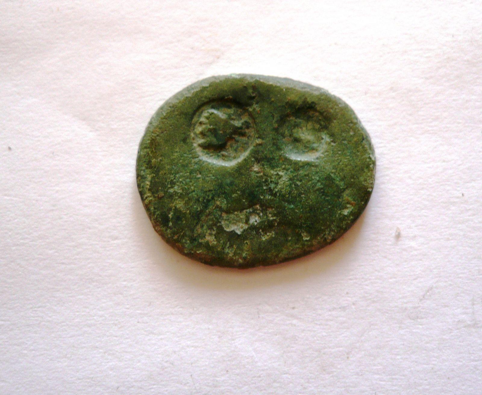2 Kontramarky, bronz 26 mm, r.380, Řecko-Thrákie