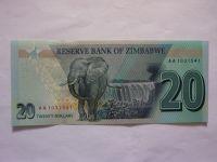 20 Dollar, 2020, Zimbabwe