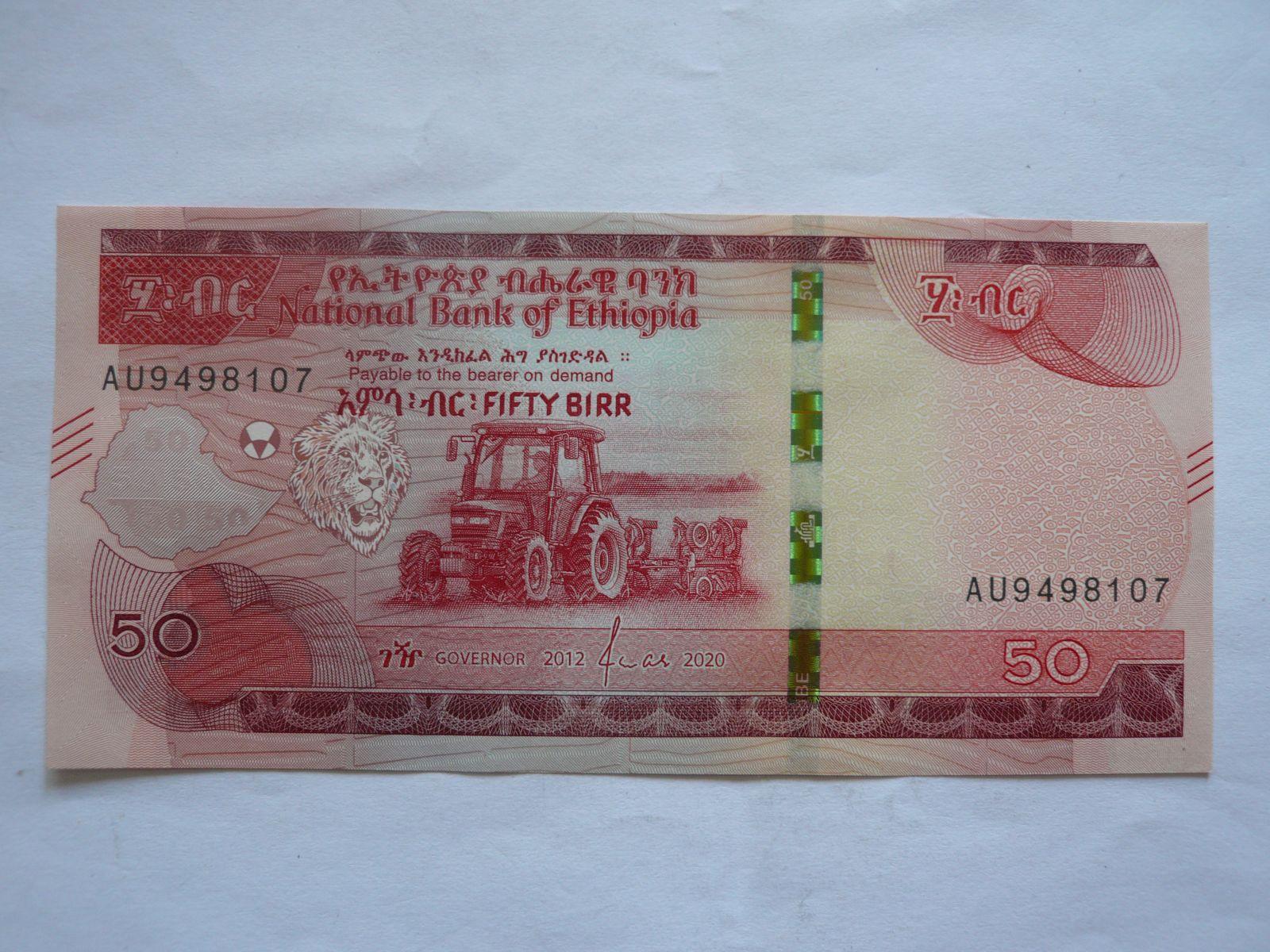 50 Birr, 2012-2020, Ethiopie