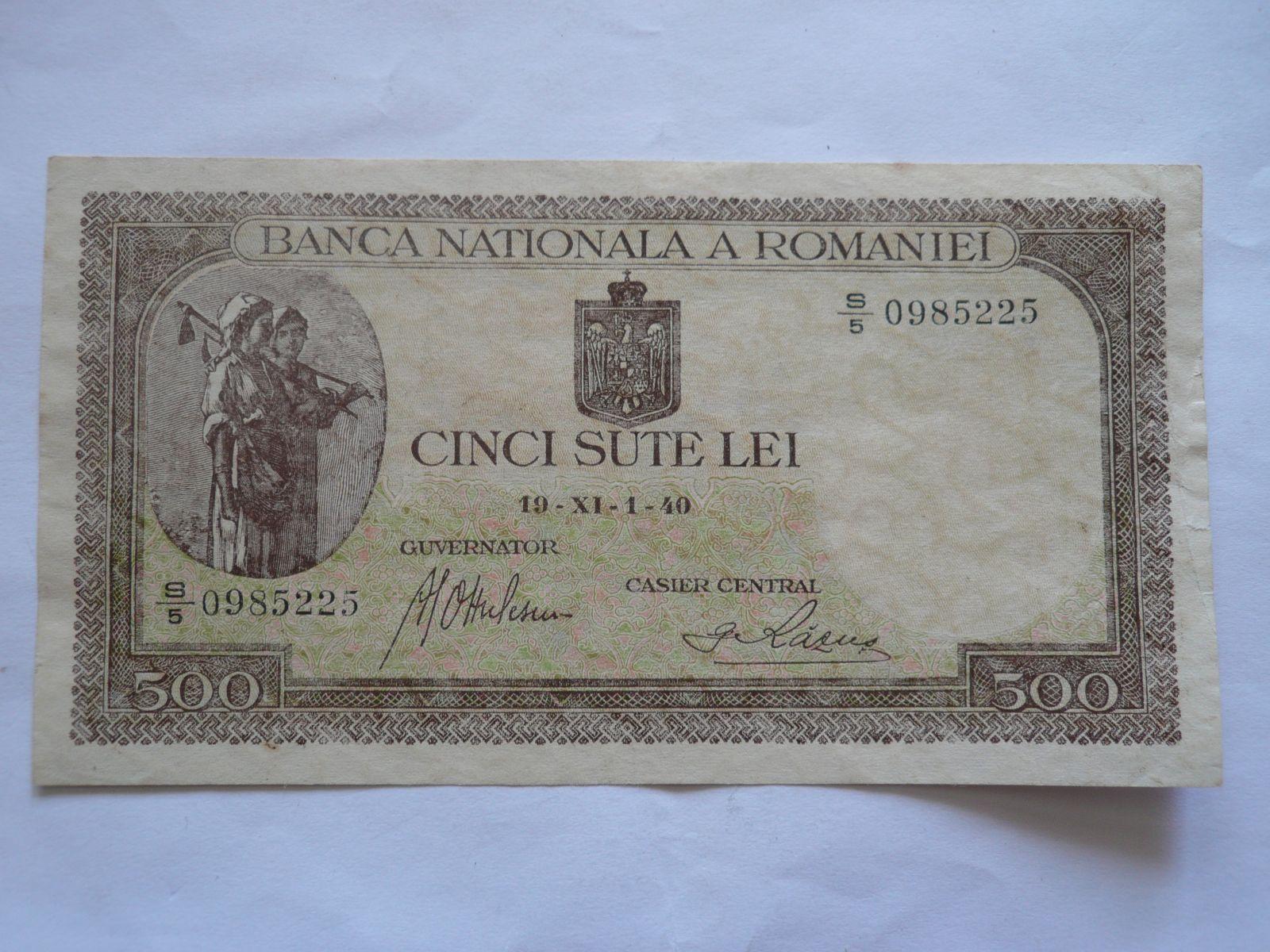 500 Lei, 1940, Rumunsko