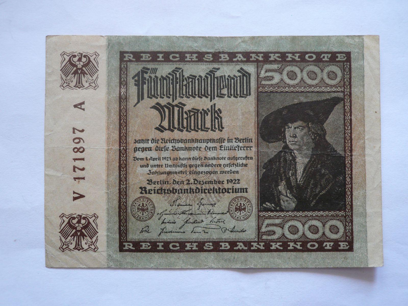 500 Marek, 1922, Německo